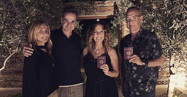 Κυριάκος και Μαρέβα Μητσοτάκη: Στην Αντίπαρο με το ζεύγος Tom Hanks και Rita Wilson