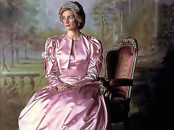 <p>princess diana painting by Alex Zolotar</p>