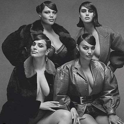 Vogue Italia:  Σπάει  τους κανόνες με τέσσερα plus size μοντέλα μαζί