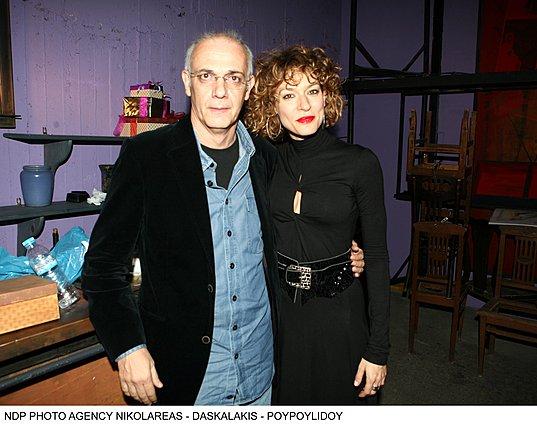 <p>Ο Γιώργος Κιμούλης και η Ζέτα Δούκα έναν χρόνο πριν από την εν λόγω συνεργασία τους</p>
