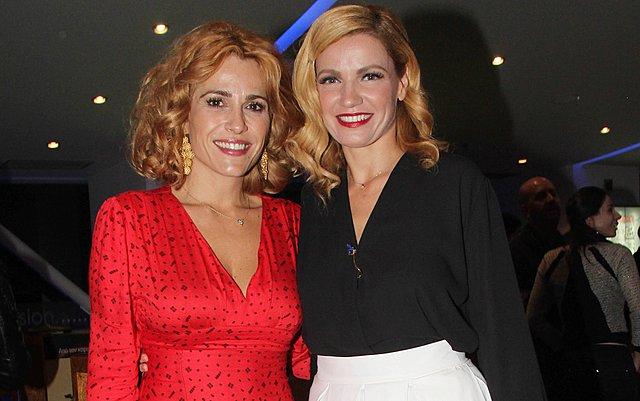 <p>Η Παναγιώτα Βλαντή [δεξιά] με την Τζένη Μπότση</p>