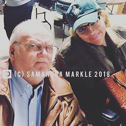 <p>Η Samantha με τον πατέρα της -και πατέρα της Meghan- Thomas Markle</p>  <p>(photo: @samanthamarkle1)</p>