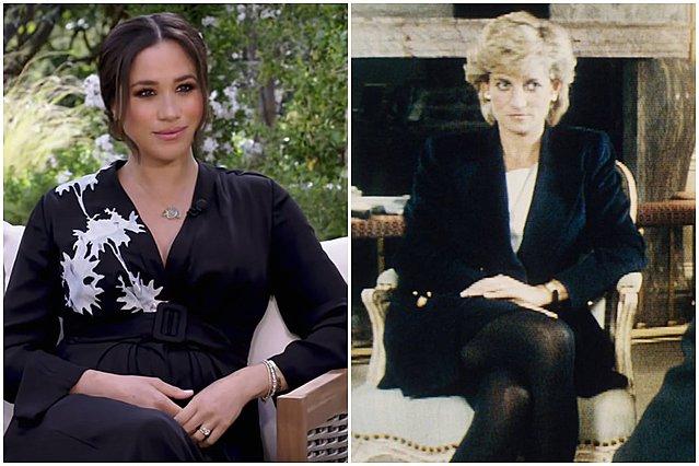 Meghan - Diana: 3 εντυπωσιακά κοινά σημεία στις πρώτες συνεντεύξεις τους μετά την αποχώρηση από τα βασιλικά καθήκοντα