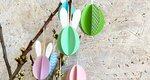 Φτιάξε μόνη σου τρισδιάστατα πασχαλινά αυγά από χαρτί