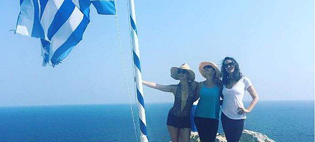 <p>Η φωτογραφία είναι από ταξίδι της Kate με την παρέα της στη Σκιάθο το 2016.</p>