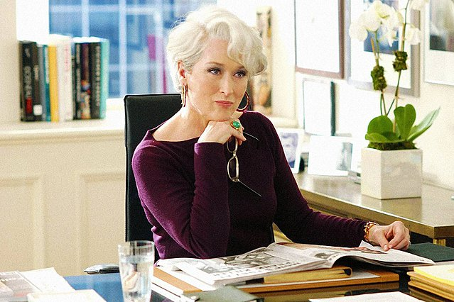 "<p>Η Meryl Streep στην ταινία ""Ο Διάβολος φορούσε Prada""</p>"
