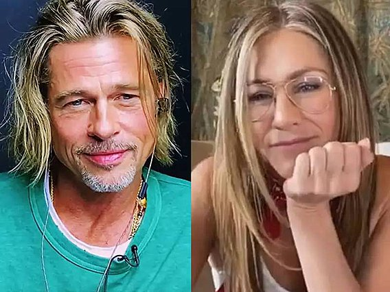 Jennifer Aniston σε Brad Pitt:  Μωρό μου, σ' αγαπάω  - Ένα σπάνιο τηλεοπτικό στιγμιότυπο των διάσημων  πρώην  [video]